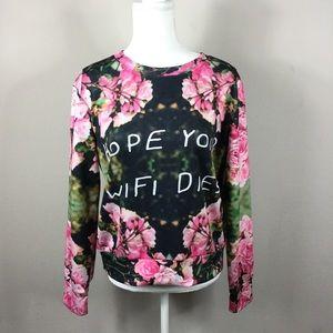 Floral woman's sweatshirt